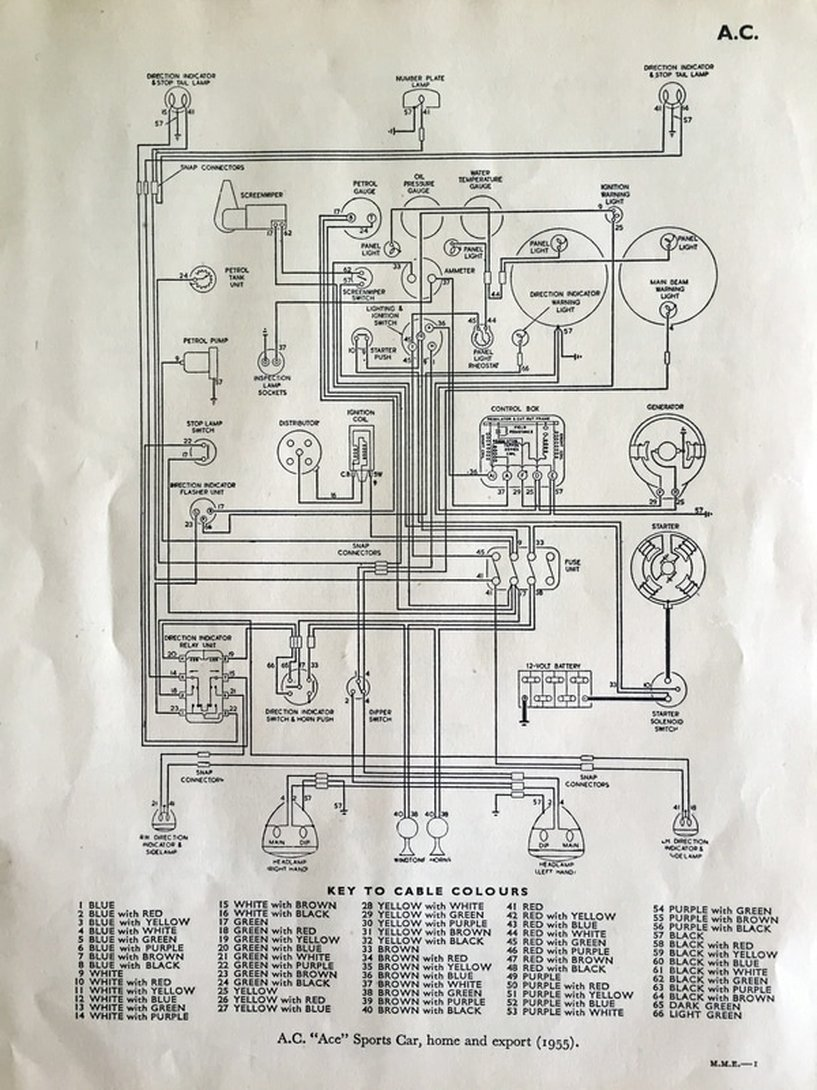 Ac Ace Brochures 1953 20lac Car Wiring Diagram Cars Price List